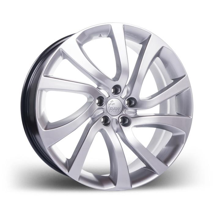 """RAW réplica da roda usada pela Land Rover com aro 22"""" e tala 9,5"""". Clique na imagem para saber mais detalhes"""