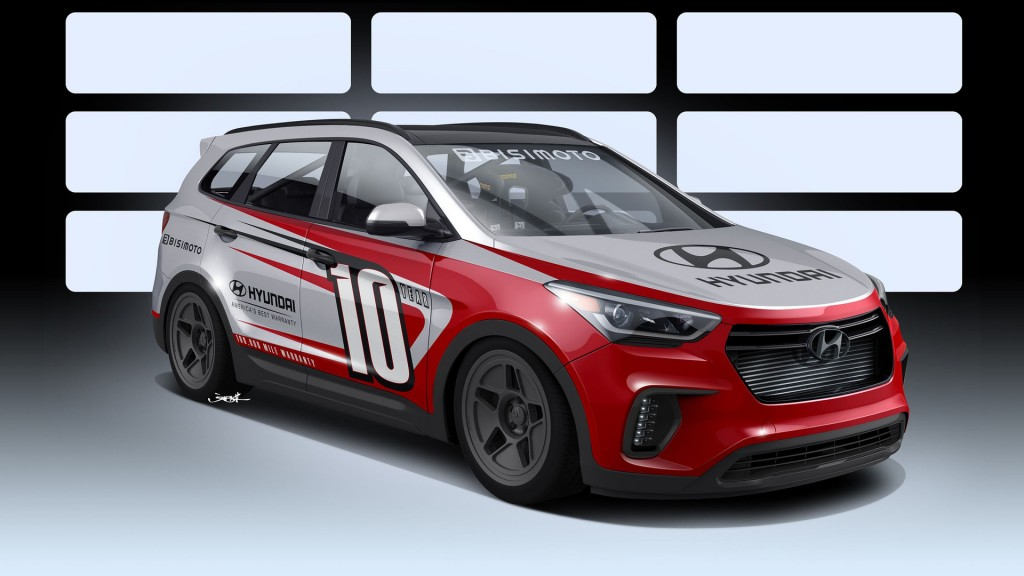 "HYUNDAI JOINS FORCES WITH BISIMOTO TO DEVELOP ""SANTA-FAST"" 1,040 HORSEPOWER REAR-DRIVE SANTA FE SUV FOR 2016 SEMA SHOW"