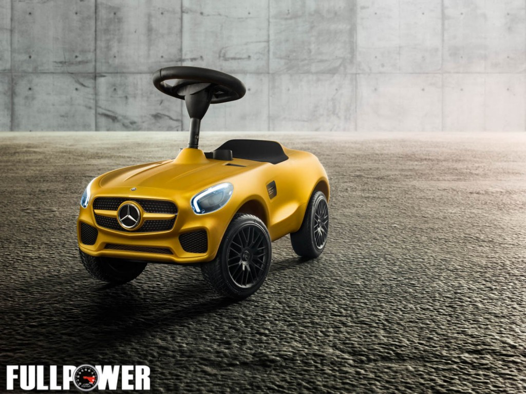 Bobby-Cars von Mercedes-Benz – Bobby-AMG GT S in AMG Solarbeam mit beleuchtenden LED (vorne/hinten) von BIG für Mercedes-Benz // Bobby-Cars von Mercedes-Benz – Bobby-AMG GT S in AMG Solarbeam with LED (front/rear) from BIG for Mercedes-Benz ;;